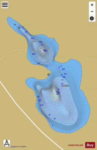 Titch, Lac Fishing Map - i-Boating App