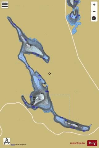 Belair, Lac Fishing Map - i-Boating App