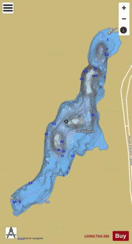 Epaule, Lac a l' Fishing Map - i-Boating App