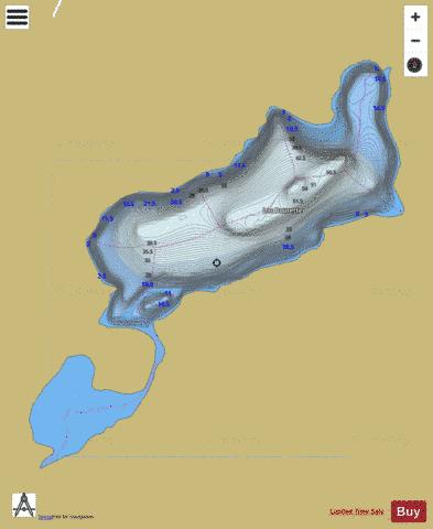 Bourette, Lac Fishing Map - i-Boating App