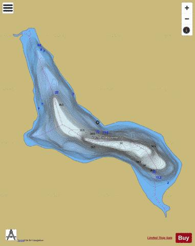Bouteille, Lac de la Fishing Map - i-Boating App
