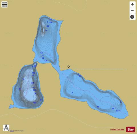 Etheleen, Lac Fishing Map - i-Boating App
