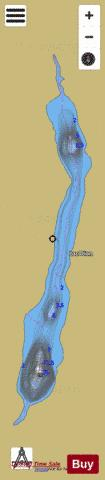 Dion, Lac Fishing Map - i-Boating App