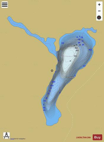 Ovide, Lac Fishing Map - i-Boating App