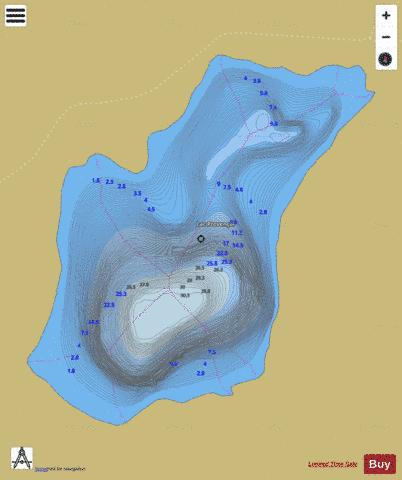 Provencal, Lac Fishing Map - i-Boating App