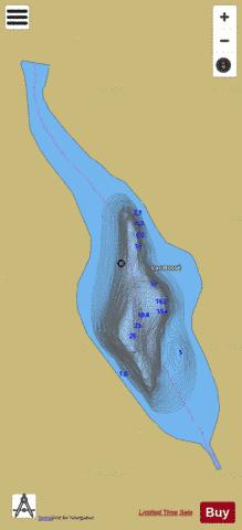 Bosse, Lac Fishing Map - i-Boating App