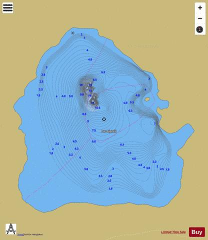 Bignell, Lac Fishing Map - i-Boating App