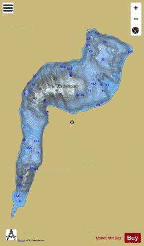 Enfers, Lac des Fishing Map - i-Boating App