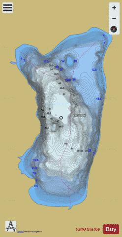 Carre, Lac Fishing Map - i-Boating App