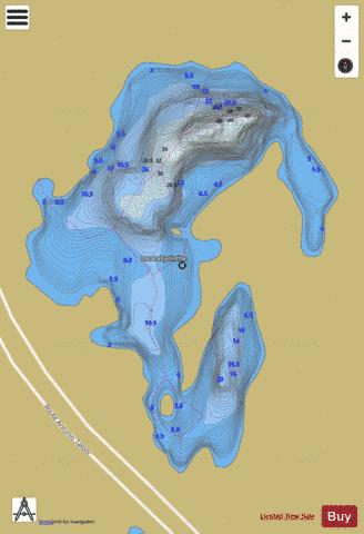 Labyrinthe, Lac Fishing Map - i-Boating App
