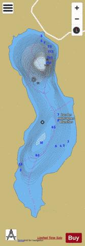 Montagnes Blanches, Lac des Fishing Map - i-Boating App