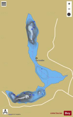 Beaulieu, Lac Fishing Map - i-Boating App