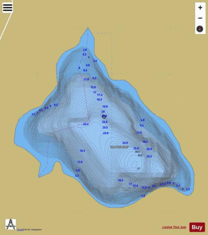 Durocher, Lac Fishing Map - i-Boating App