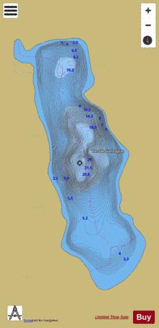 De Gonzague, Lac Fishing Map - i-Boating App