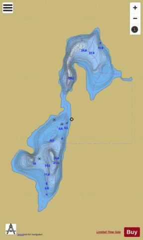 Chenard, Lac Fishing Map - i-Boating App