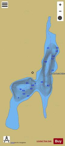Deux Baies, Lac des Fishing Map - i-Boating App