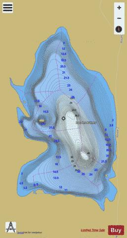 Aulnes, Lac des Fishing Map - i-Boating App