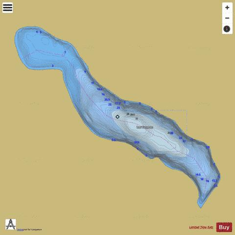 Turgeon, Lac Fishing Map - i-Boating App
