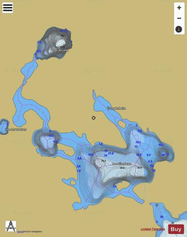 Arcand, Lac Fishing Map - i-Boating App