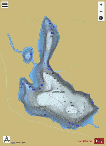 Loutre, Lac de la Fishing Map - i-Boating App