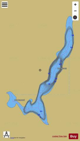 Ducont, Lac Fishing Map - i-Boating App