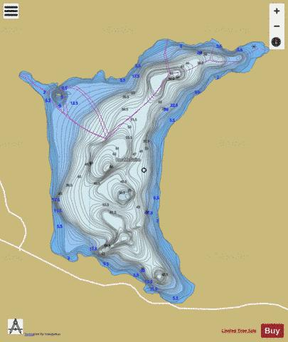 McGuire, Lac Fishing Map - i-Boating App