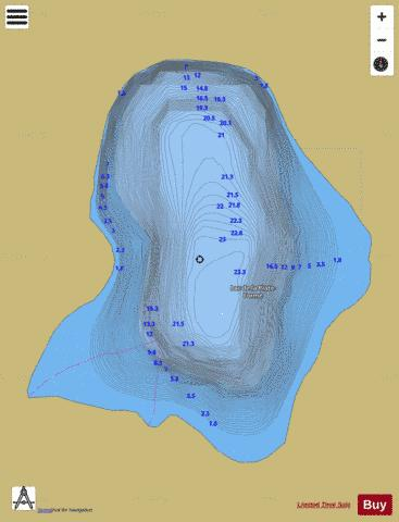 Plate-Forme, Lac de la Fishing Map - i-Boating App