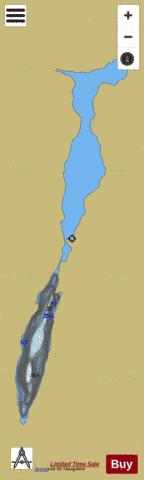 Dahous, Lac Fishing Map - i-Boating App