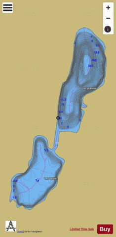 Jeanne, Lac Fishing Map - i-Boating App