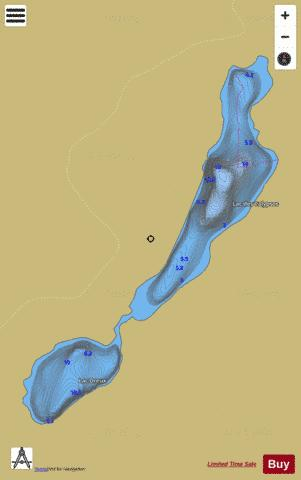 Dreux, Lac Fishing Map - i-Boating App