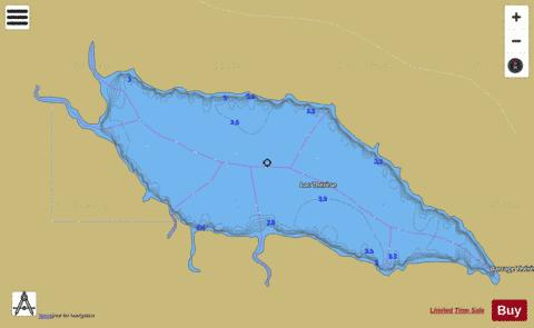 Therese, Lac Fishing Map - i-Boating App