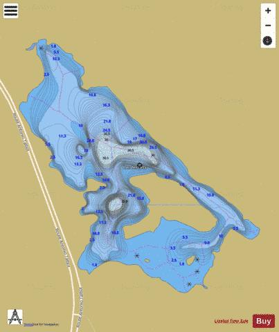 Ilets, Lac des Fishing Map - i-Boating App