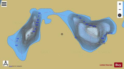Croche, Lac Fishing Map - i-Boating App