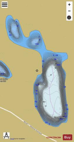 Pins, Lac des Fishing Map - i-Boating App
