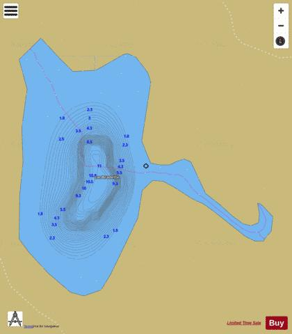 Bradette, Lac Fishing Map - i-Boating App