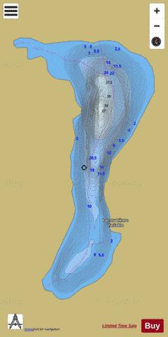 Lievre Variable, Lac du Fishing Map - i-Boating App