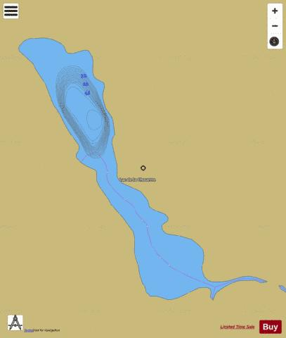 Simon, Lac Fishing Map - i-Boating App