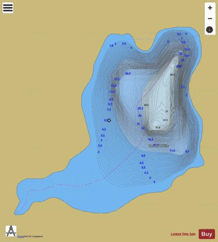 Truite, Lac a la Fishing Map - i-Boating App