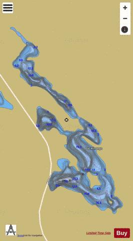 Kinonge, Lac Fishing Map - i-Boating App