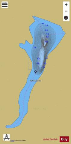 Lotus, Lac des Fishing Map - i-Boating App
