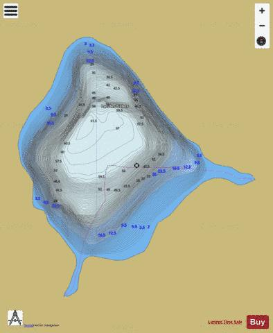 Galets, Lac des Fishing Map - i-Boating App
