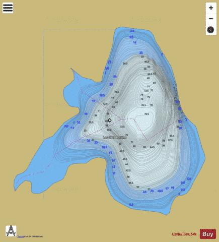 Bottine, Lac de la Fishing Map - i-Boating App