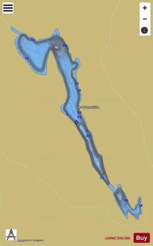 Ouananiche, Lac Fishing Map - i-Boating App