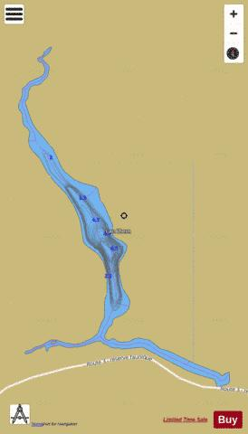 Ahern, Lac Fishing Map - i-Boating App