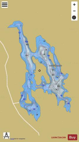 Guillemette, Lac Fishing Map - i-Boating App