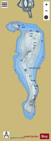Noyes, Lac des Fishing Map - i-Boating App