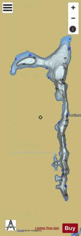 Simard, Lac Fishing Map - i-Boating App