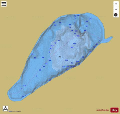 Coivrel, Lac Fishing Map - i-Boating App