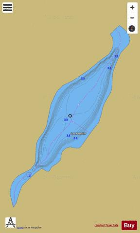 Prunier, Lac Fishing Map - i-Boating App