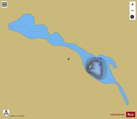 Barrage du Castor, Lac du Fishing Map - i-Boating App
